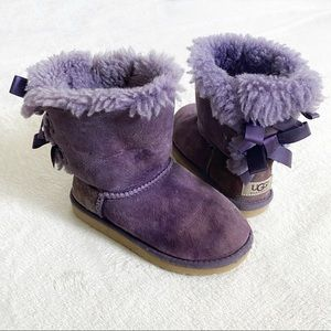 Ugg Bailey bow purple toddlers boots size 11